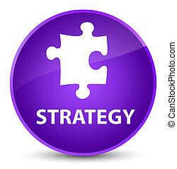 Strategy (puzzle icon) elegant purple round button
