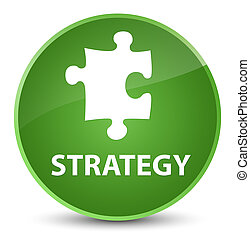 Strategy (puzzle icon) elegant soft green round button