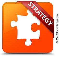 Strategy (puzzle icon) orange square button red ribbon in corner