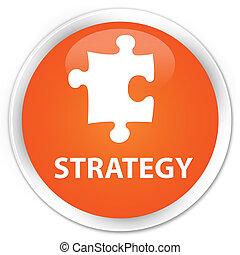 Strategy (puzzle icon) premium orange round button