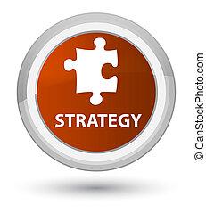 Strategy (puzzle icon) prime brown round button
