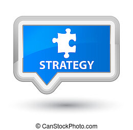 Strategy (puzzle icon) prime cyan blue banner button