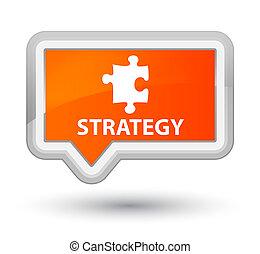Strategy (puzzle icon) prime orange banner button