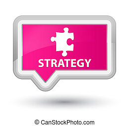 Strategy (puzzle icon) prime pink banner button
