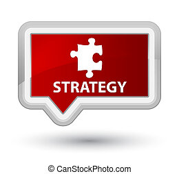 Strategy (puzzle icon) prime red banner button