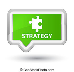 Strategy (puzzle icon) prime soft green banner button