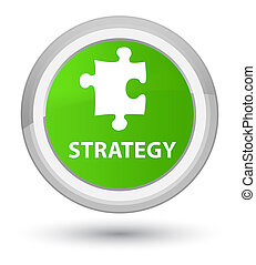 Strategy (puzzle icon) prime soft green round button