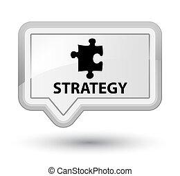 Strategy (puzzle icon) prime white banner button
