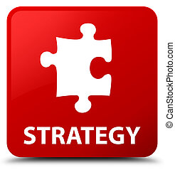 Strategy (puzzle icon) red square button