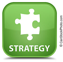 Strategy (puzzle icon) special soft green square button