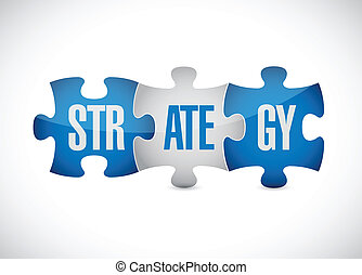 strategy puzzle pieces illustration design