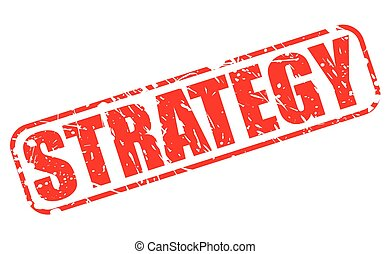 Strategy red stamp text