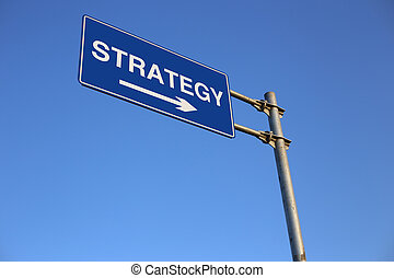 Strategy Road Sign