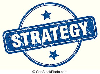 strategy round grunge isolated stamp