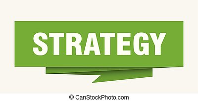 strategy sign. strategy paper origami speech bubble....