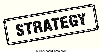 strategy stamp. strategy square grunge sign. strategy