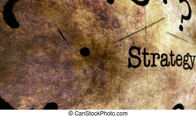 Strategy texy on grunge background