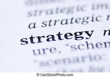Strategy - the word strategy written in a thesaurus