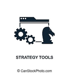 Strategy Tools icon. Creative element design from business strategy icons collection. Pixel perfect Strategy Tools icon for web design, apps, software, print usage