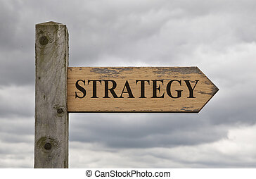Strategy Wooden Sign