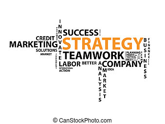Strategy Word Cloud - Strategy word cloud isolated