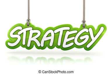 strategy word hanging isolated on white background