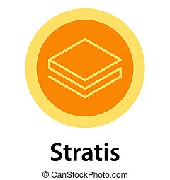 Stratis icon, flat style