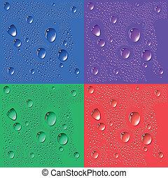 strato, bolle, astratto, fondo, water.