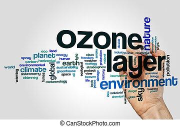strato ozono, parola, nuvola