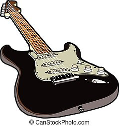Stratocaster - A sketch of my favourite guitar
