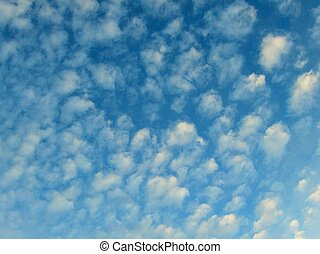 Stratocumulus cloud background 3 - blue background with...