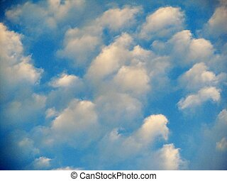 Stratocumulus cloud background 5 - blue background with...