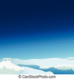Stratosphere flat modern design. Space vector illustration.