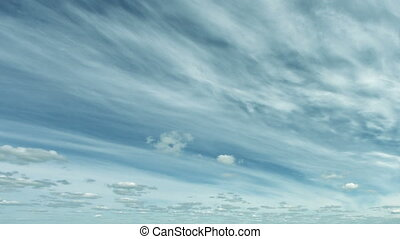Stratus and cumulus clouds in the heavenly timelapse