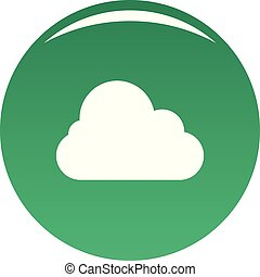 Stratus icon. Simple illustration of stratus vector icon for any design green