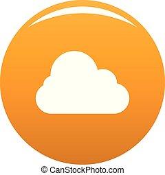 Stratus icon. Simple illustration of stratus vector icon for any design orange