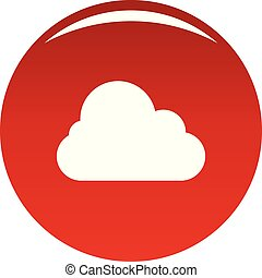 Stratus icon. Simple illustration of stratus vector icon for any design red