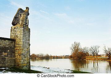 Straubing #18 - Old City gate leading to Danube River - ...