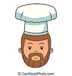 strava, vrchní kuchař, čelit, karikatura