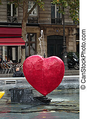 Stravinsky Fountain in Paris near the Arts Centre Pompidou
