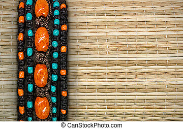 straw background with a border