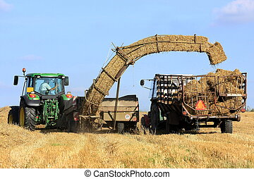 Straw bale and agricultural engineering, Czech Republic