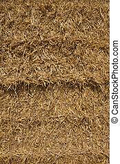 straw bale background