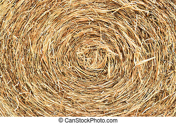 straw bale rolled up