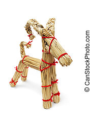 Straw Billy Goat - Traditional Finnish christmas decoration...