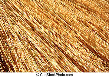 Straw broom texture