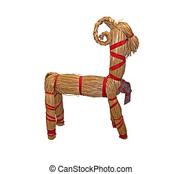 Straw Christmas goat