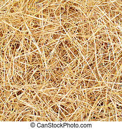 Golden, fresh clean bed of straw