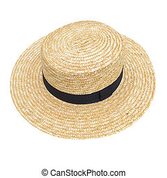 straw hat isolated on white background
