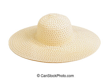 Straw hat, isolated on white background